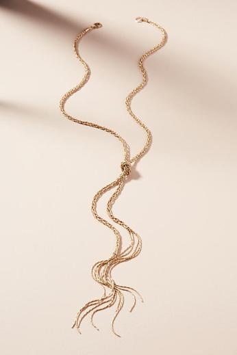 braided metallic necklace